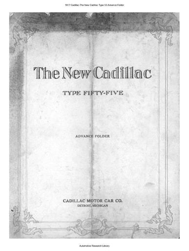 1917 Cadillac   The New Type 55 Advance Folder (8pgs)