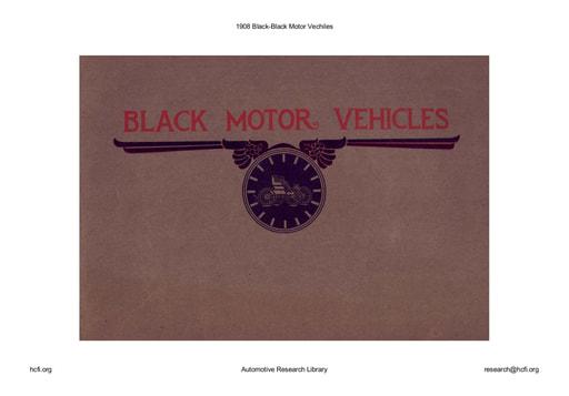 1908 Black   Motor Vechiles (49pgs)