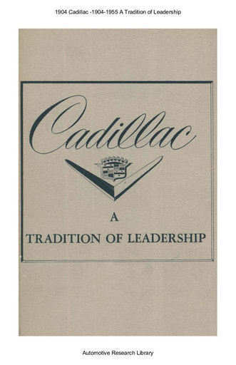 1904 Cadillac   A Tradition of Leadership (16pgs)