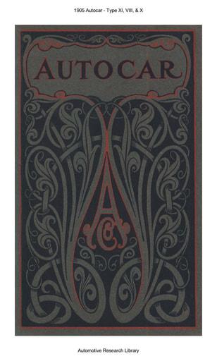 1905 Autocar   Type XI, VIII, & X (23pgs)
