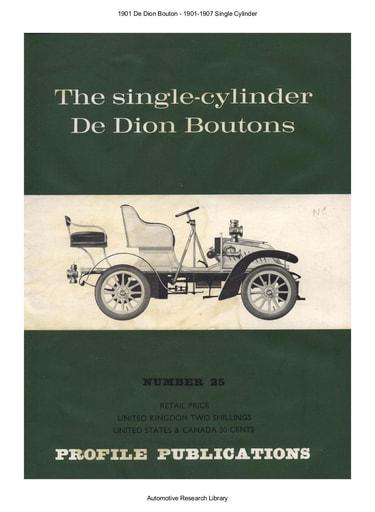 1901 De Dion Bouton   1901 1907 Single Cyl  (12pgs)