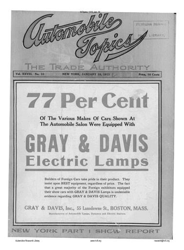 Auto Topics | 1913 Jan 18
