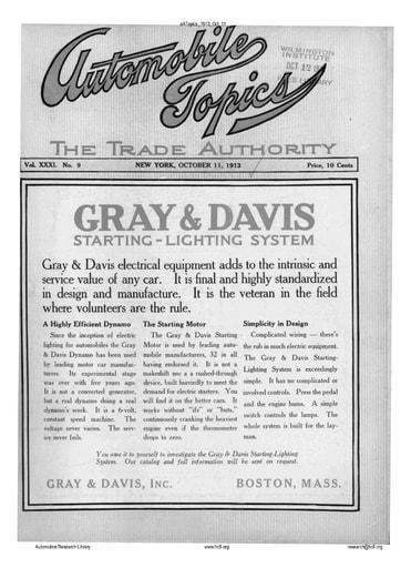 Auto Topics   1913 Oct 11