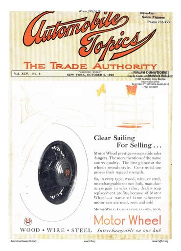 Auto Topics | 1929 Oct 05