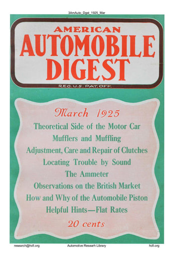 American Automobile Digest - 1925 March