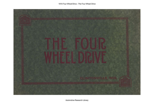 1915 The Four Wheel Drive