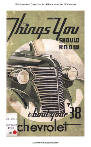1938 Chevrolet   Things You Should Know (69pgs)