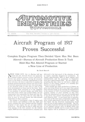 Auto Industries 1918 10 10