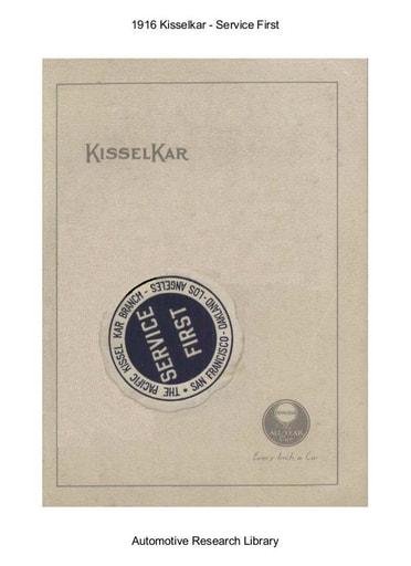 1916 Kisselkar   Service First (19pgs)