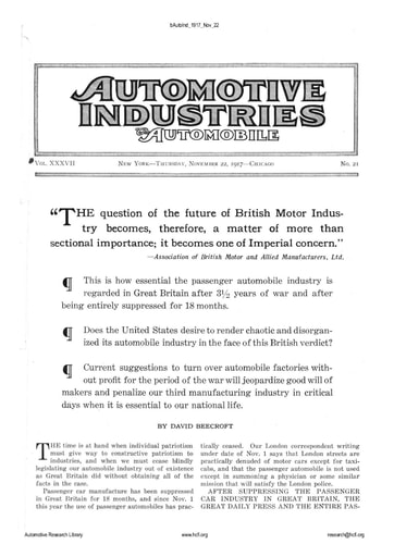 Auto Industries 1917 11 22