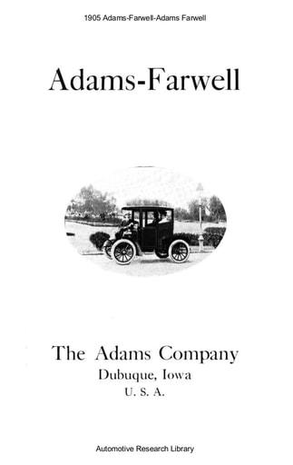1905 Adams Farwell (16pgs)