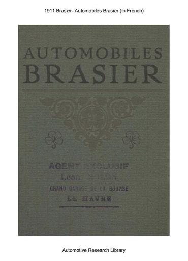1911 Brasier   Automobiles Brasier (21pgs)