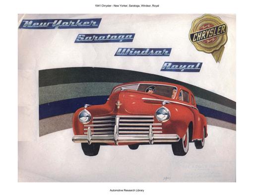 1941 Chrysler   New Yorker, Saratoga, Windsor, Royal (7pgs)