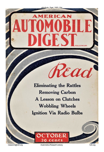 American Automobile Digest - 1923 October