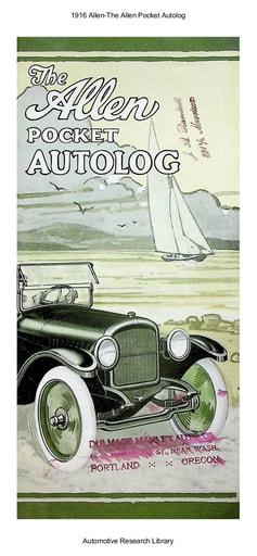 1916 Allen   Pocket Autolog (14pgs)