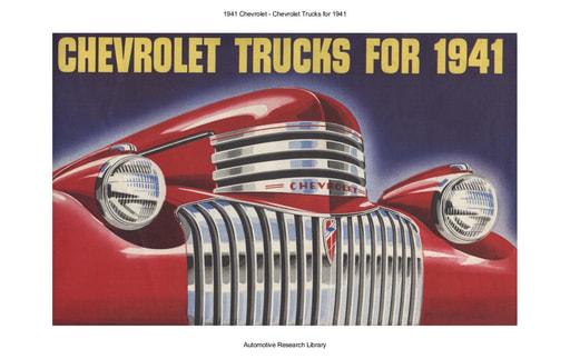 1941 Chevrolet   Trucks for 1941 (40pgs)