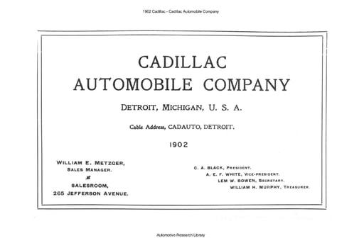 1902 Cadillac Automobile Company (15pgs)