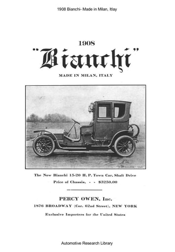 1908 Bianchi   Made in Milan, Itlay (4pgs)