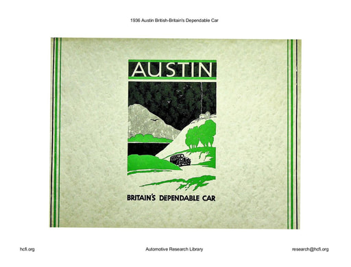 1936 Austin British   Britains Dependable Car (30pgs)