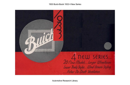 1933 Buick   4 New Series (16pgs)