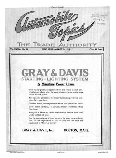 Auto Topics | 1914 Aug 01