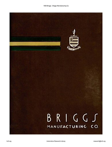 1938 Briggs Manufacturing Co (17pgs)