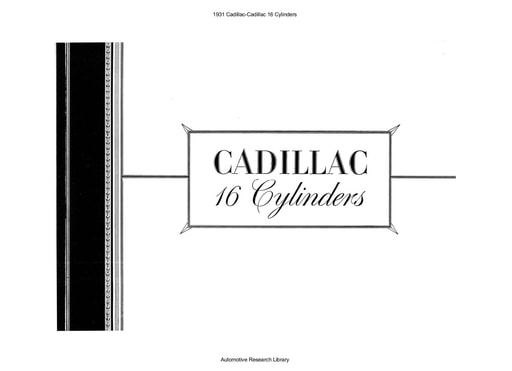 1931 Cadillac   16 Cylinders (44pgs)