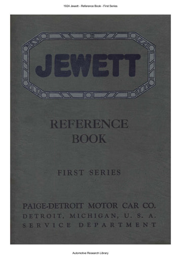 1924 Jewett   Reference Book   First Series (36pgs)