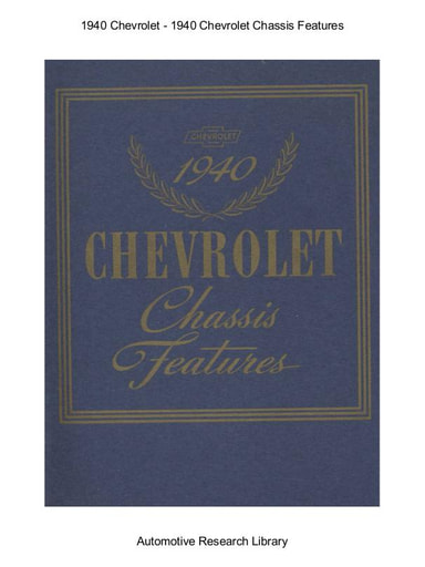 1940 Chevrolet   Chassis Features (11pgs)