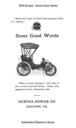 1903 Duryea   Some Good Words (8pgs)
