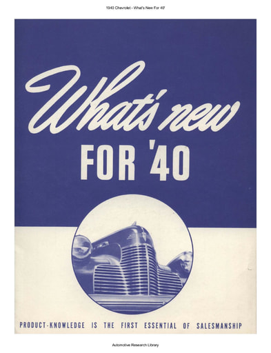 1940 Chevrolet   What's New For 40' (33pgs)