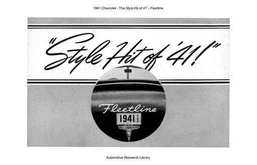 1941 Chevrolet   The Style Hit of 41'   Fleetline (3pgs)