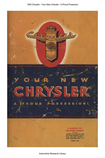 1942 Chrysler   A Proud Posession (64pgs)