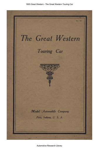 1905 Great Western   Touring Car (34pgs)