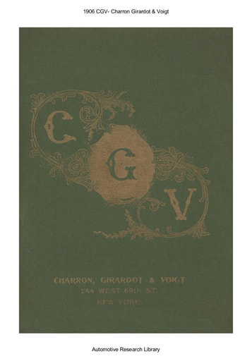 1906 CGV   Charron Girardot & Voigt (17pgs)