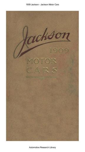 1909 Jackson Motor Cars (32pgs)