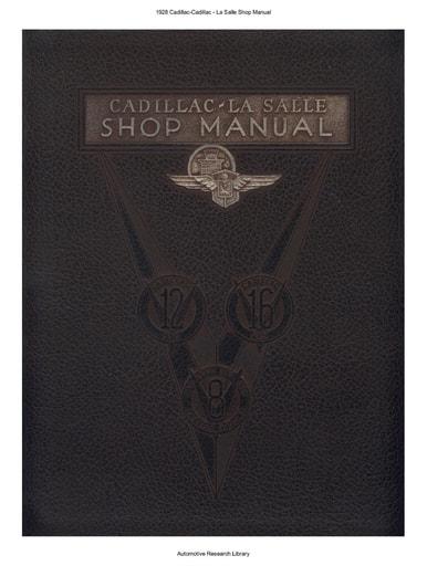 1928 Cadillac   La Salle Shop Manual (105pgs)