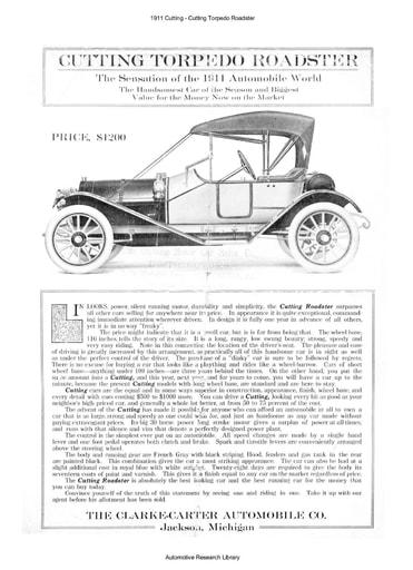 1911 Cutting   Torpedo Roadster (4pgs)
