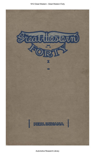 1912 Great Western   Forty (18pgs)