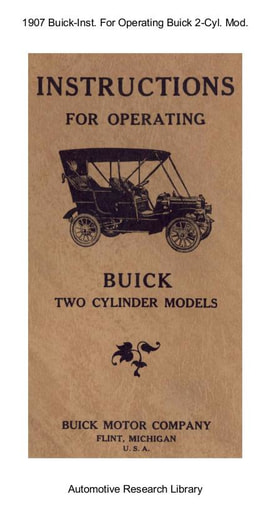 1907 Buick   Inst  For Operating Two Cyl  Models (25pgs)