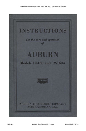 1932 Auburn   Instructions (38pgs)
