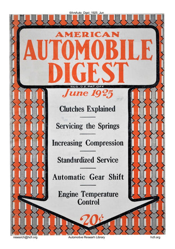 American Automobile Digest - 1925 June