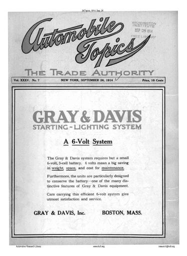 Auto Topics | 1914 Sep 26
