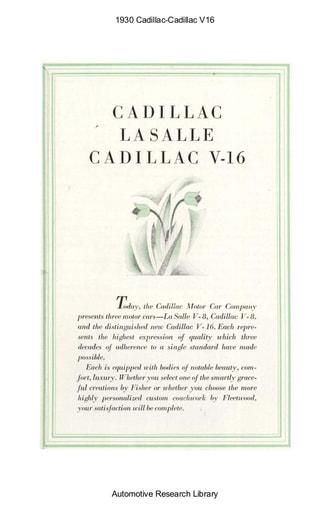 1930 Cadillac   V16 (6pgs)