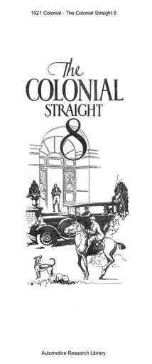 1921 Colonial   The Straight 8 (6pgs)