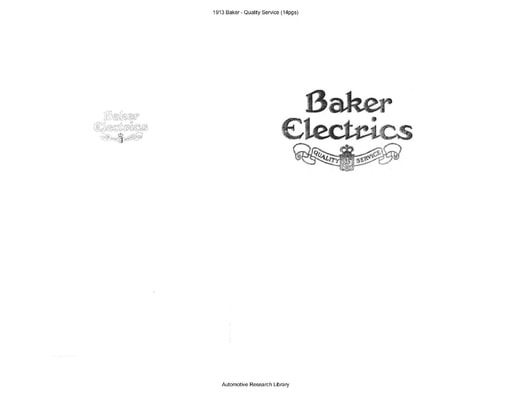 1913 Baker   Quality Service (14pgs)