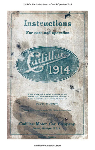 1914 Cadillac   Instructions (71pgs)