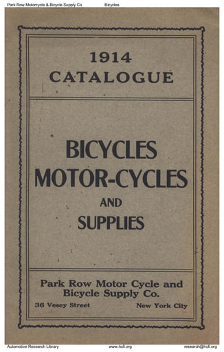 1914 Park Row Motorcycle & Bicycle Supply Co