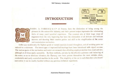 1907 Darracq   Introduction (28pgs)