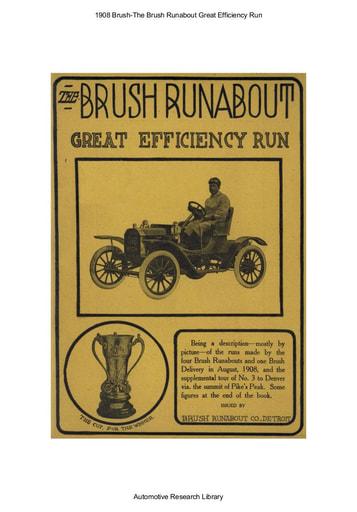 1908 Brush   The Great Efficiency Run (49pgs)